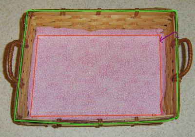 Create a basket liner pattern