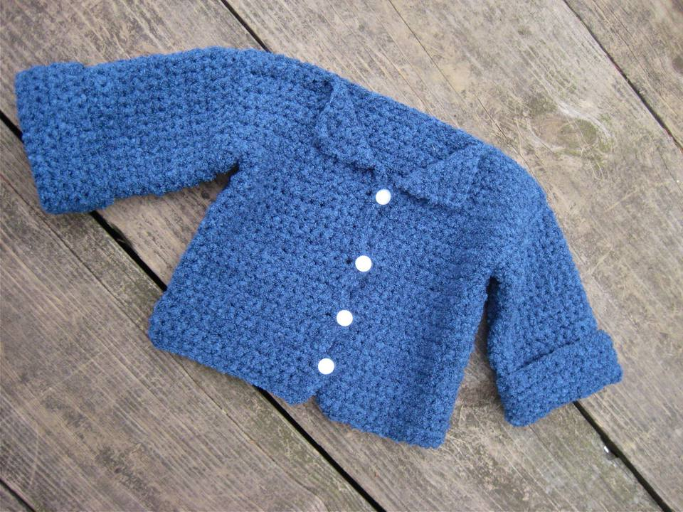 Beginner's Baby Cardigan Sweater