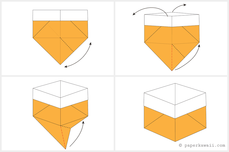 how to make a triangle box out of paper