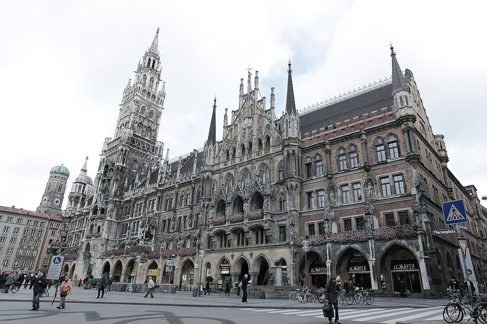 Marienplatz in the city centre of Munich, Germany.