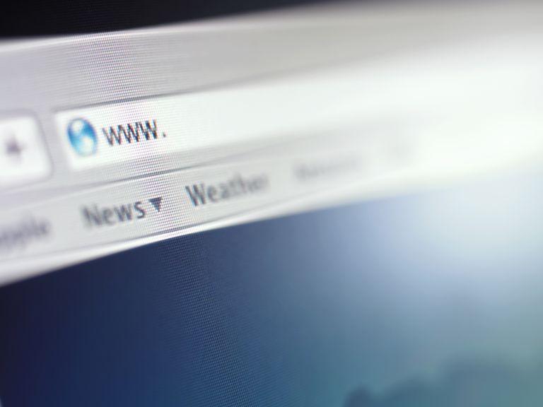 Close up of address bar on internet browser