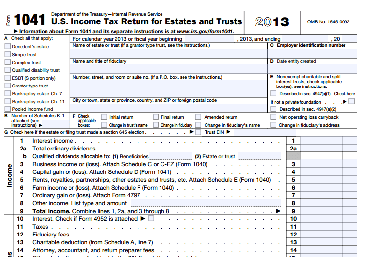 Do I Need IRS Form 1041 for My Revocable Living Trust?
