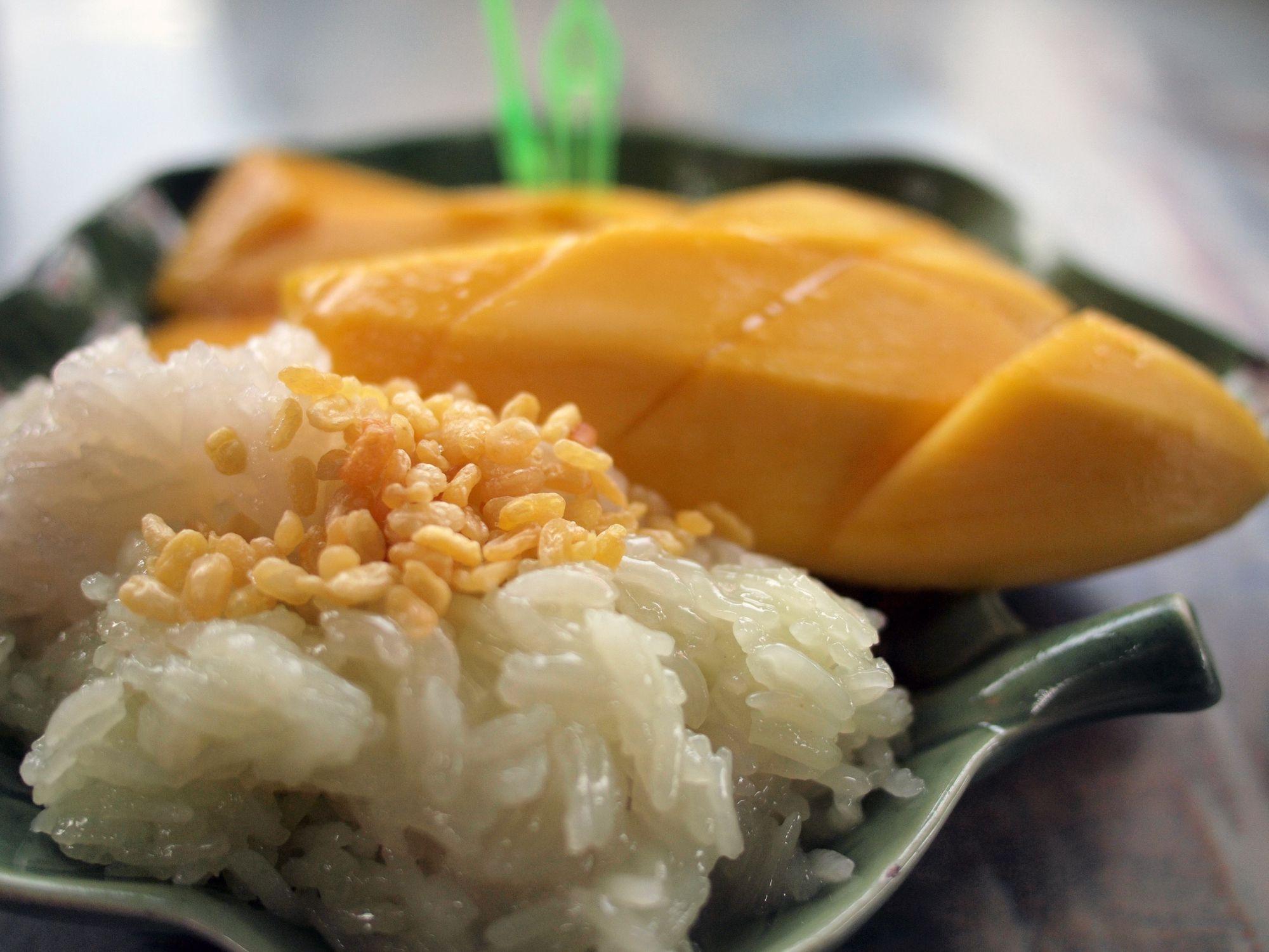 Thai Mango Sticky Rice Khao Niaow Ma Muang Recipe