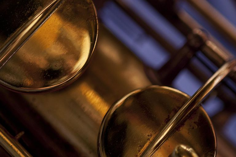Detail - Antique Brass Conn Tenor Sax