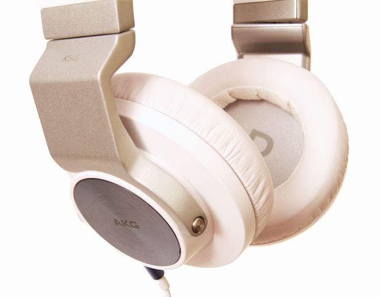 A closeup look of the the AKG K545 over-ear headphones