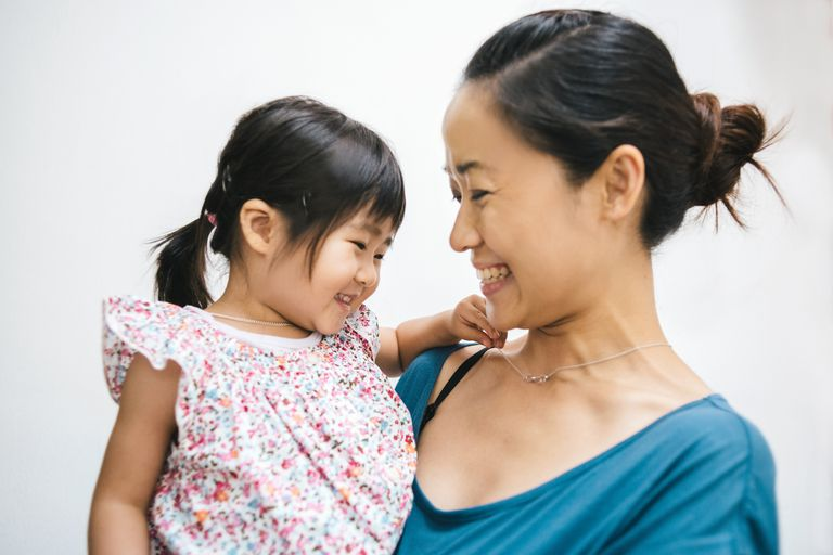 Woman with her toddler daughter