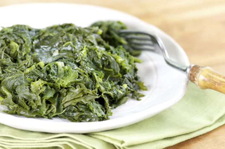 Collard Greens and Kale, Cooked