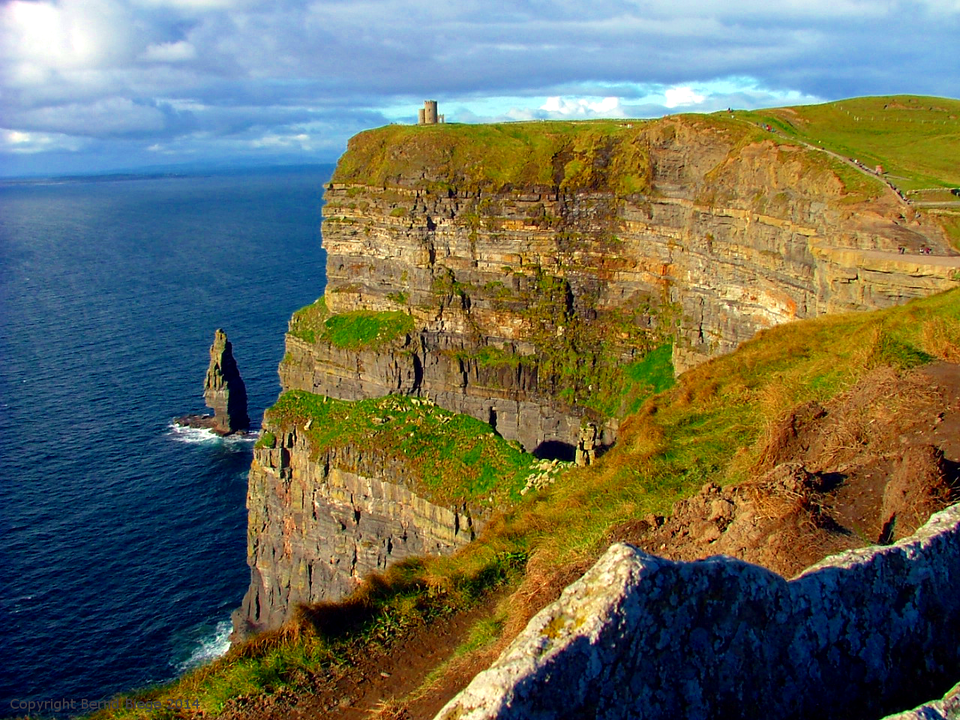 The Cliffs of Moher, towering over the Atlantic