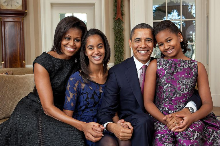 The Obama family seated for a family portrait in the Oval Office, The White House. The sociology of the family is a subfield that examines how the family as a social institution works and interacts with other aspects of society.