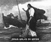Jesus Walks on Water During a Storm
