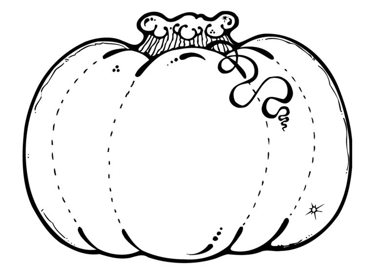 195 pumpkin coloring pages for kids for Coloring pages pumpkin free