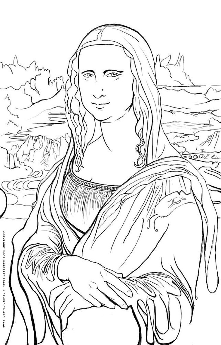 free art history coloring pages famous works of art