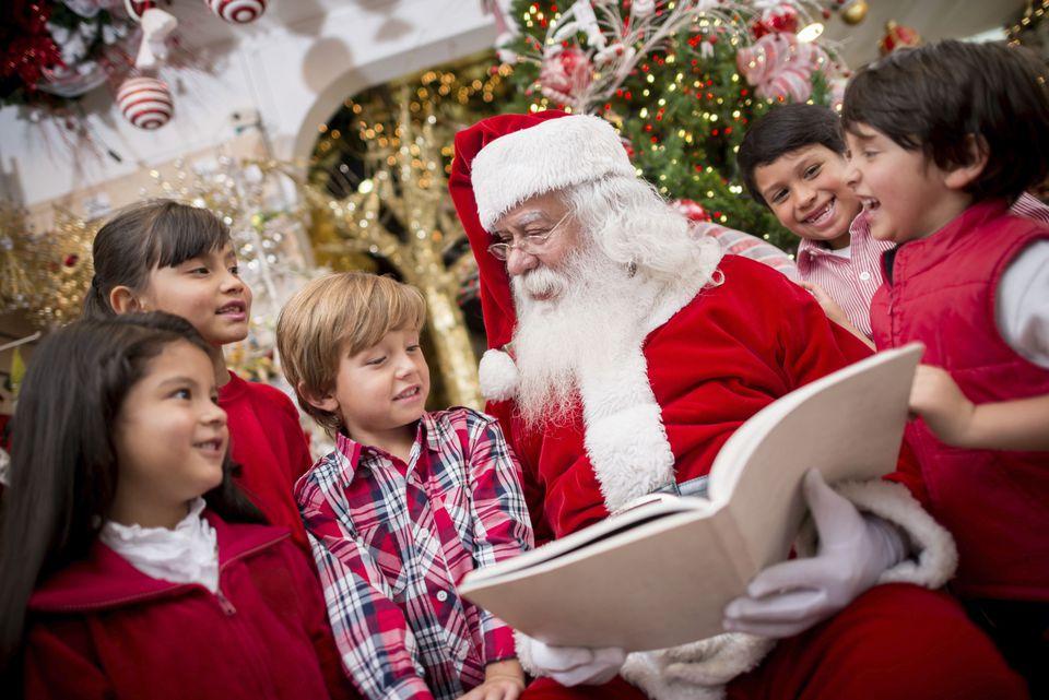 santa and kids - Santa And Kids
