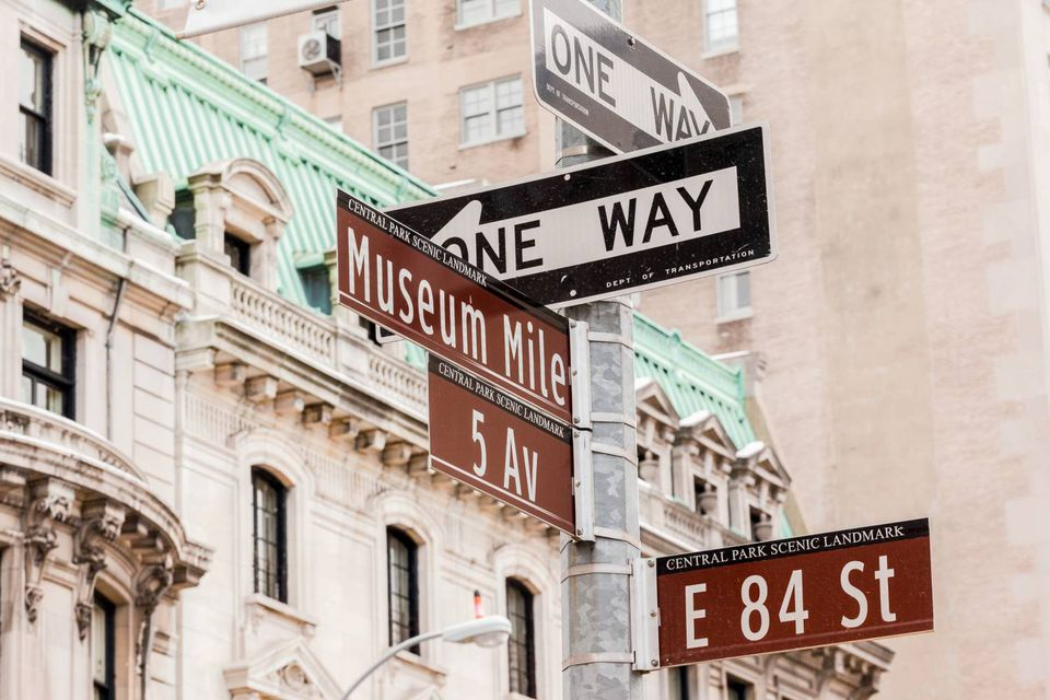 museum mile signs