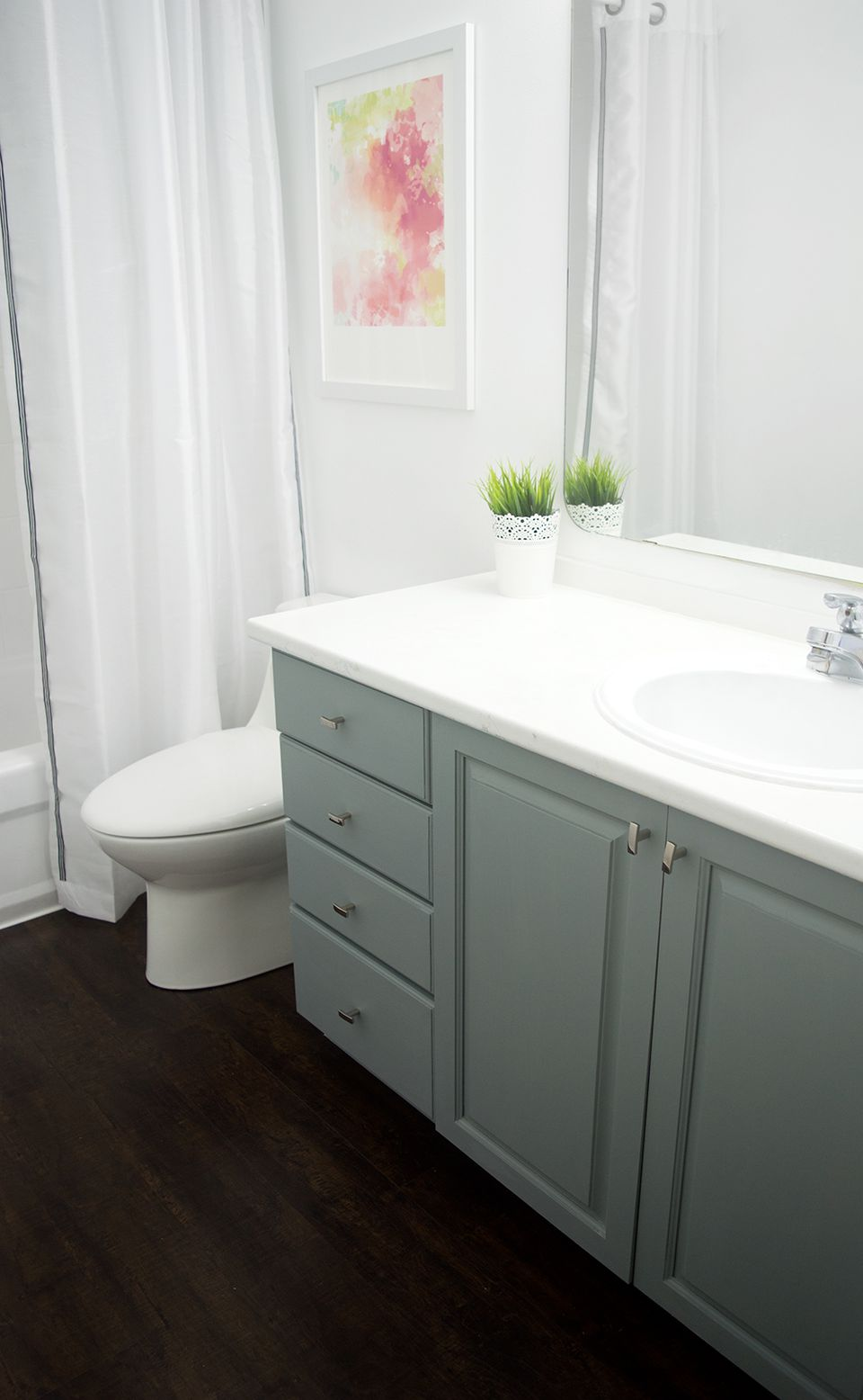 diy painting bathroom cabinets 13 easy diy bathroom updates to try 18159