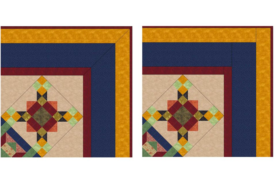 Compare Mitered and Straight Sewn Quilt Borders