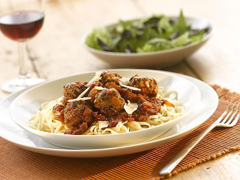 Pork and Onion Meat Balls with Sundried Tomato Sauce Recipe