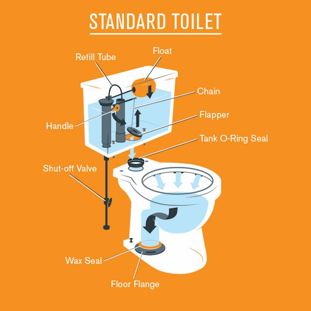 Overview Of The Parts Of A Toilet