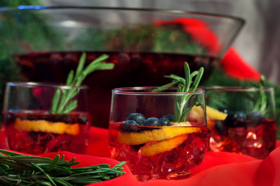 Cranberry Fresh Gin Punch