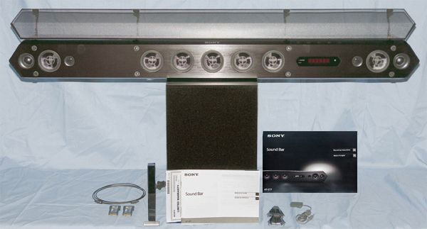 Sony HT-ST7 Sound Bar and Wireless Subwoofer System Package