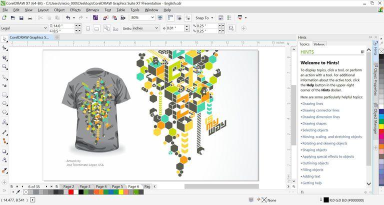 CorelDRAW Graphics Suite Screen Shot