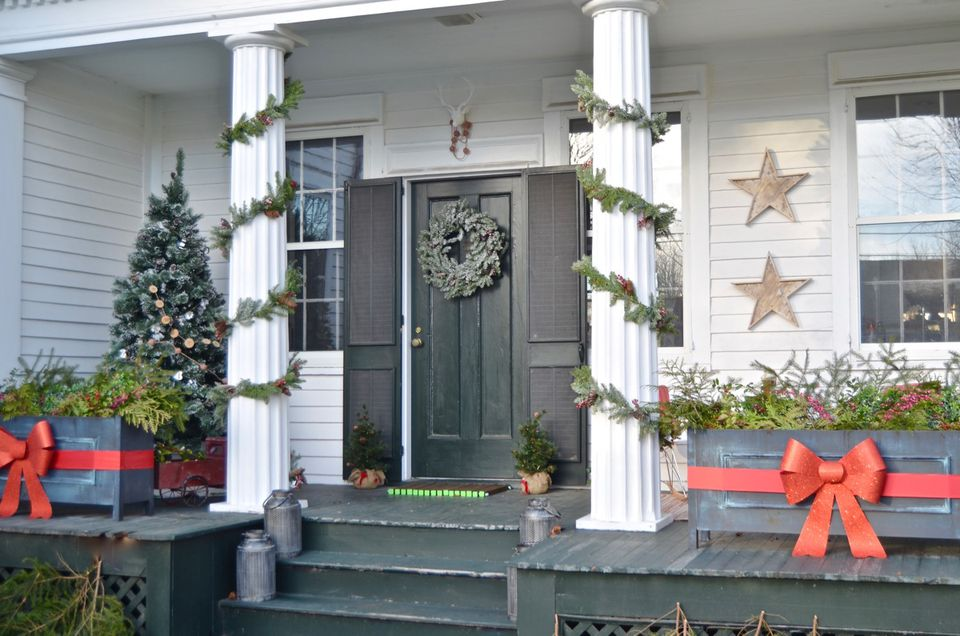 Perfect Holiday porch possible hero shot