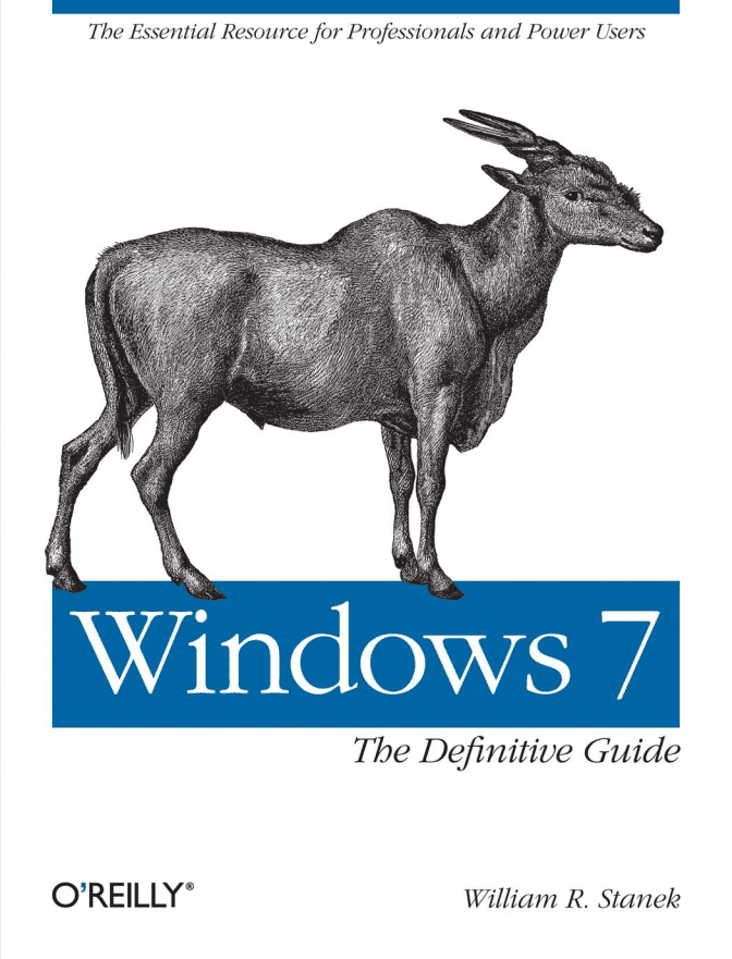 Book cover of Windows 7: The Definitive Guide