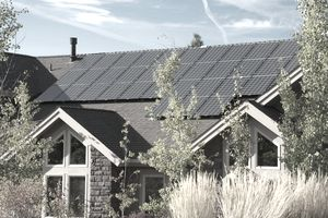 Electric solar panel, home, exterior