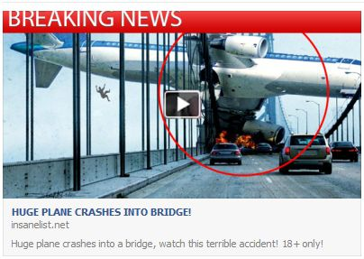 Huge Plane Crashes Into Bridge