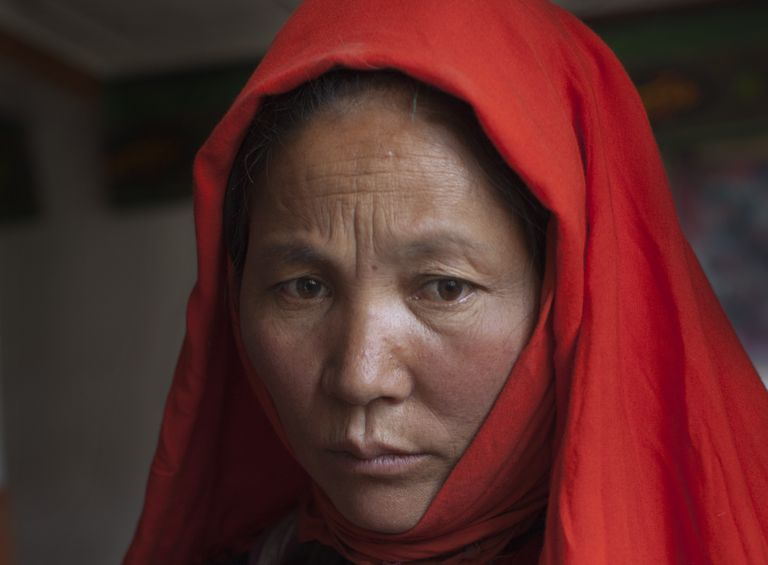Hazara woman in Afghanistan