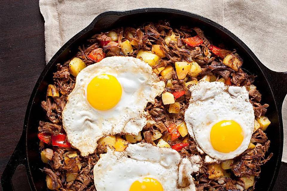 Brisket Hash and Eggs