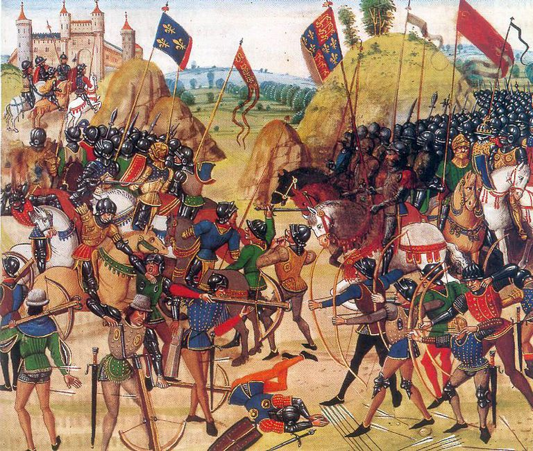 battle of crecy in the the hundred years war fighting at the battle of crecy