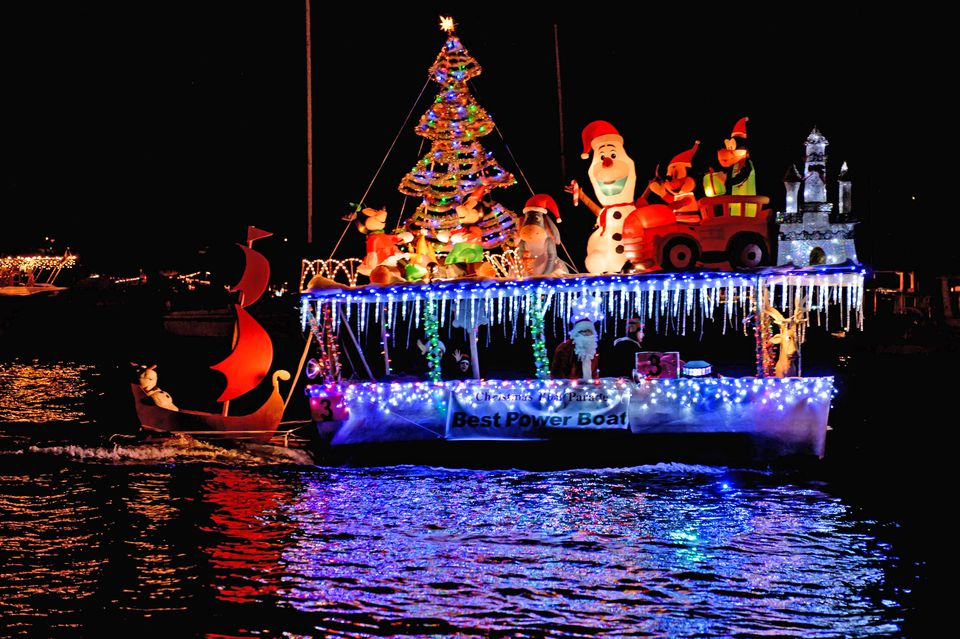 Participant in the Newport Harbor Christmas Parade