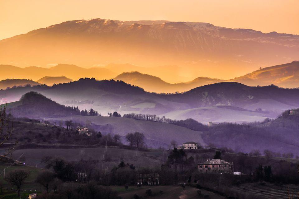 Fog in the Urbino countryside
