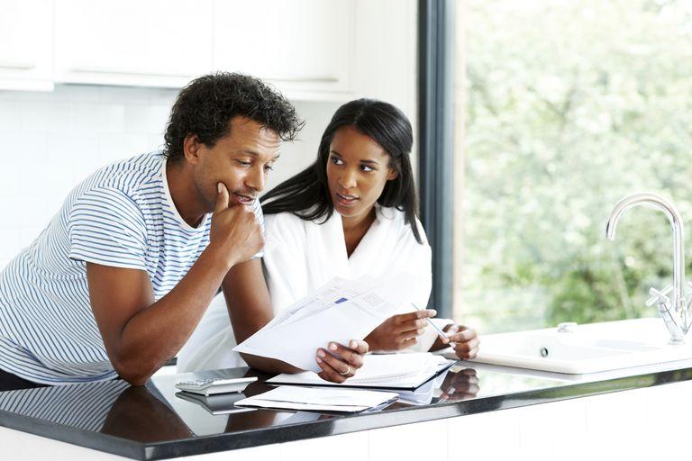 A couple works on their finances