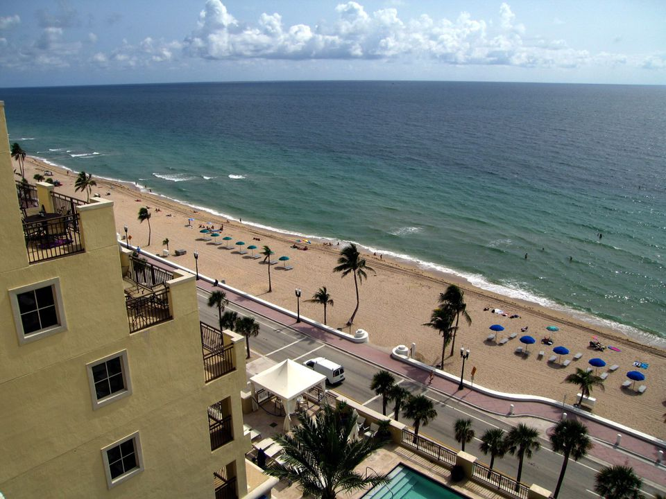 The beautiful beachfront in Fort Lauderdale