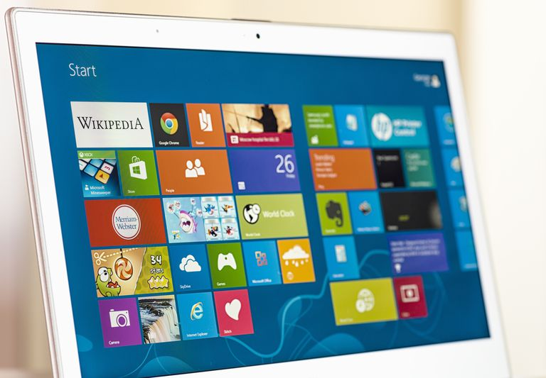 Windows 8 Start Screen on a Laptop