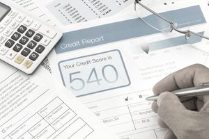 credit report form on a desk - Annual Credit Report Form