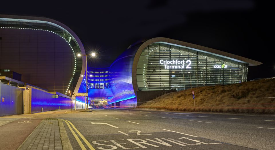 Dublin Airport at night Terminal 2
