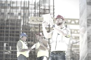 Construction Worker with iPad