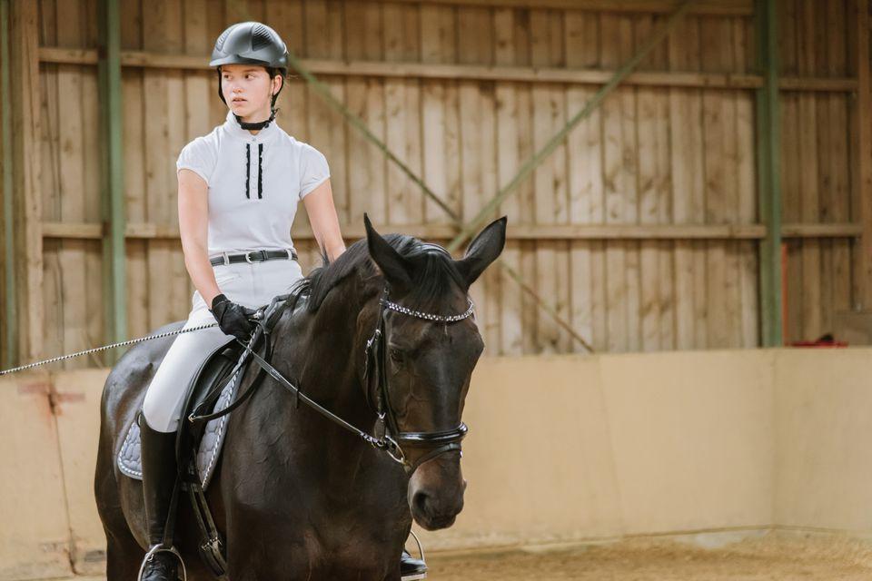 girl riding horse