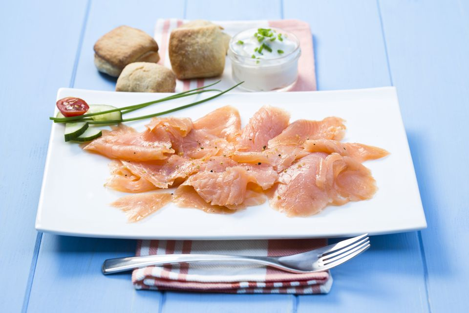 plated smoked salmon