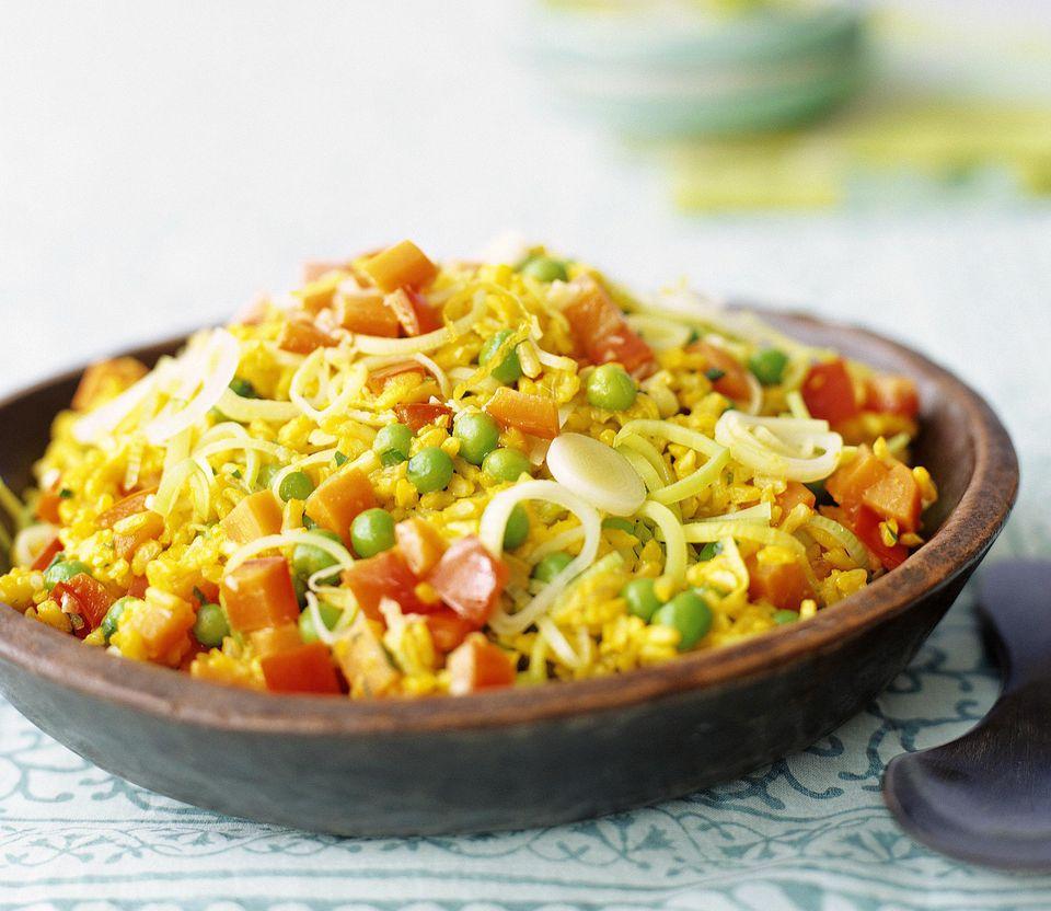saffron rice with vegetables