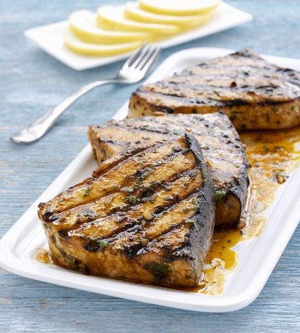 Broiled Swordfish with Browned Butter, Candied Garlic ...   Broiled Swordfish