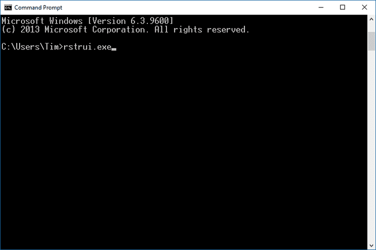 How To Start System Restore From The Command Prompt
