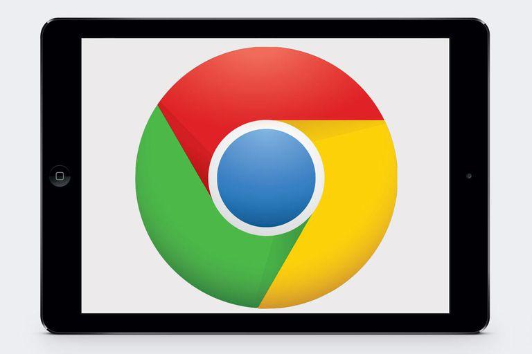 iPad Air with Google Chrome Logo