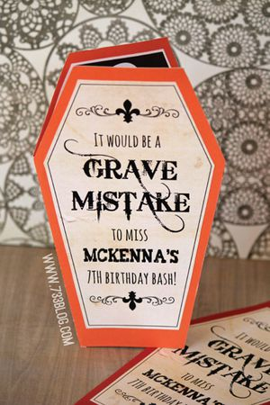 21 free halloween invitations that you can print a halloween invitation shaped like a coffin filmwisefo Image collections