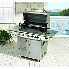 Charmglow 5-Burner Gas Grill with Rotisserie