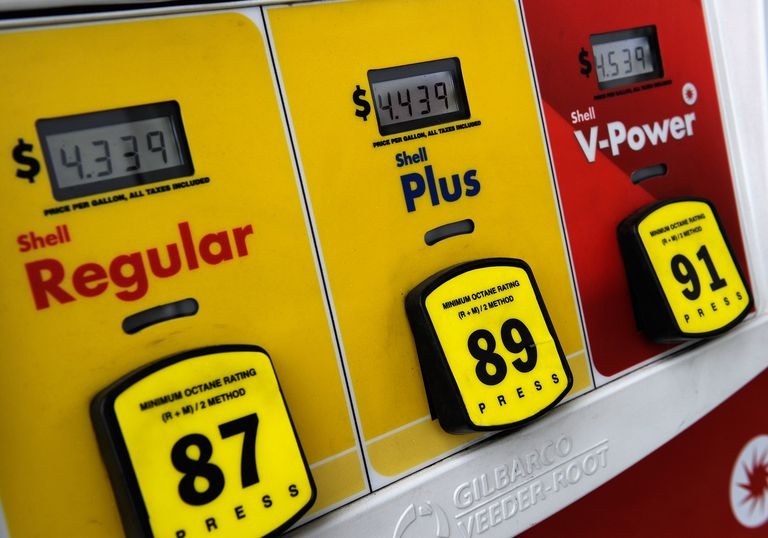 close-up of gas pump