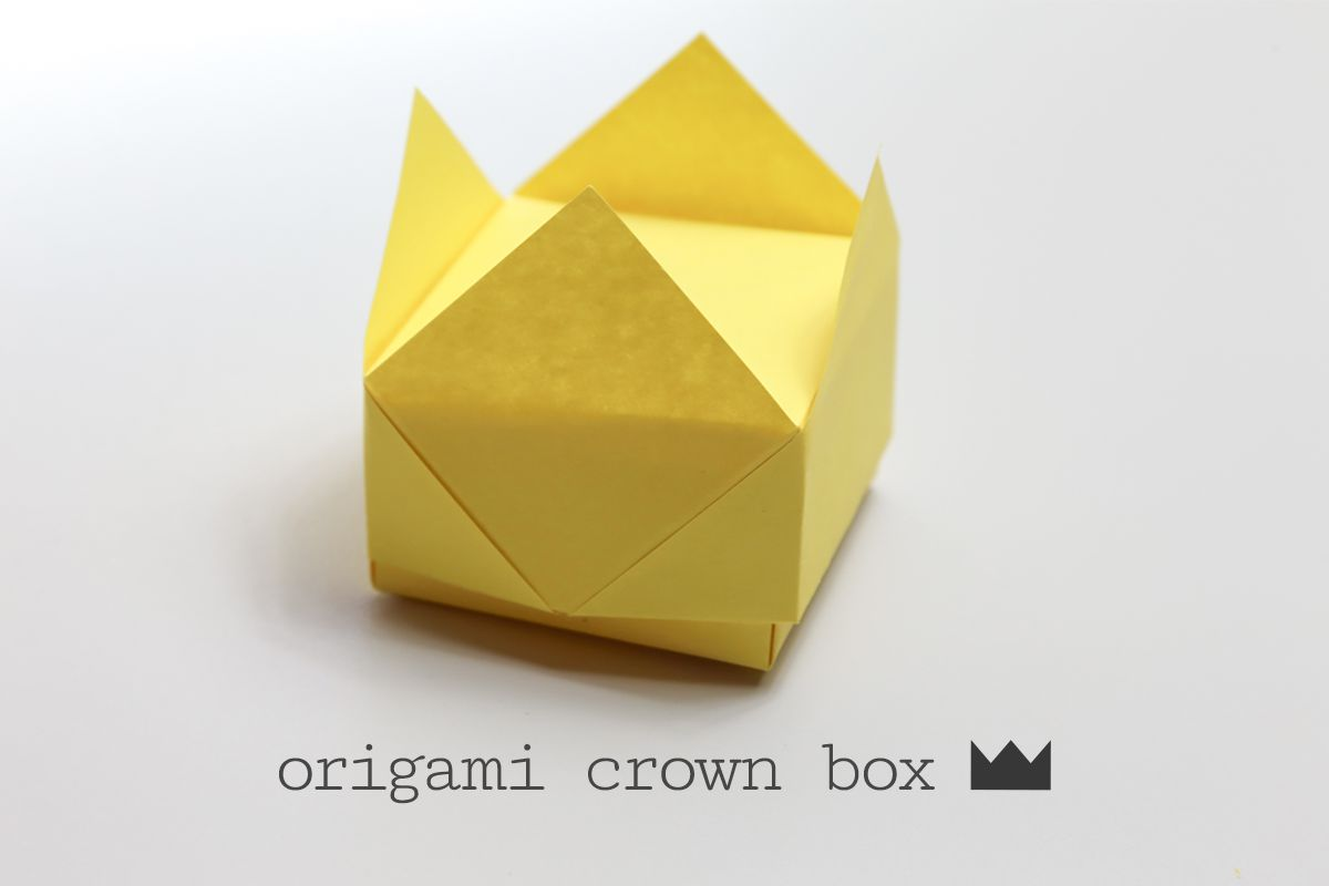 Easy origami crown box instructions jeuxipadfo Image collections